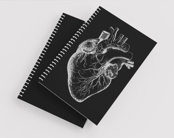 Anatomical Heart Notebook -  Anatomical Heart Journal - Anatomical Notebook - Heart Notebook - Journal - Blank Journal- Blank Notebook