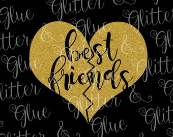 Best Friends Heart SVG File