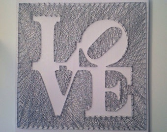 Love <Wood Art//Home Decor//String Art//Signs>