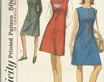 Simplicity 6029   Misses and Juniors One-Piece Dress or Jumper   Size 11