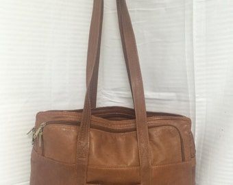 free shipping, brown leather briefcase, shoulder bag, brown leather,