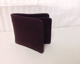 Free Ship Hidesign Brown Leather Wallet Bi Fold