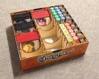 Seasons board game, wood insert to store all components, storage solution