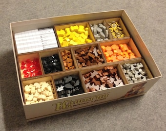 Caverna board game, wood insert to store all components, storage solution