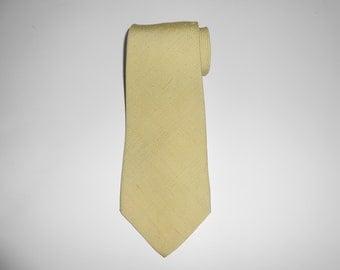 1960s Vintage BROOKS BROTHERS Shantung Silk Solid Necktie /  Shantung Silk Tie / Vtg