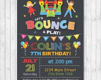 Bounce House Birthday Invitation, Jump Invite, Jump Invitation, Bounce House Invite, Castle Invite, Boy invite, Printable