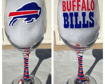 Buffalo Bills Wine Glass 20oz Super Bowl, Game Day, Sunday Football, Party