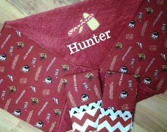 FSU Baby Blanket with name option.