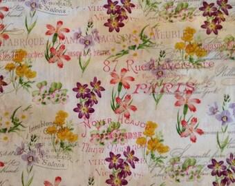 One Half Yard of Fabric - Vintage Floral