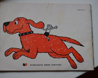 Vintage Clifford book 'Clifford gets a job' for kids