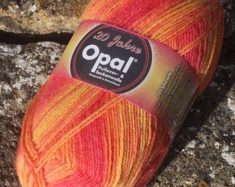"""Opal 20 Years 4 ply Sock Yarn """"Kerzen""""  (Candles) 9285"""