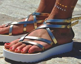 Greek Sandals , Women Leather Sandal Next Generation strappy sandals, gold sandals,Gladiator Sandals