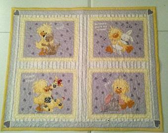 baby quilt Duck quilt toddler bed quilt