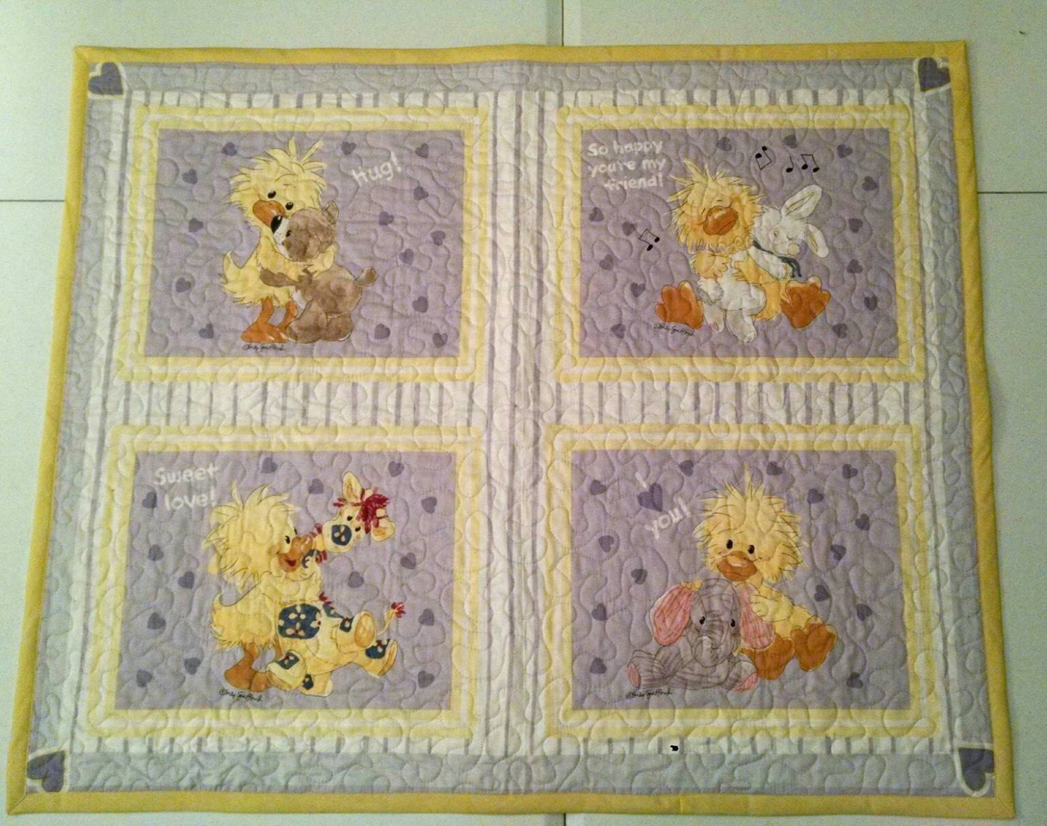 Baby Quilt Duck Quilt Toddler Bed Quilt