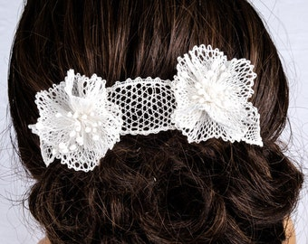 """Jewelry-Wedding Headband """"Isabelle"""" for wedding, ceremony or to beautify your hairstyle"""