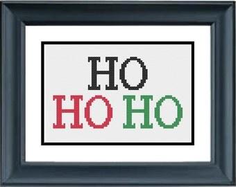 Ho Ho Ho - Christmas Cross Stitch Pattern - PDF Cross-Stitch Pattern