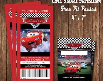 Disney Cars Party Invitation
