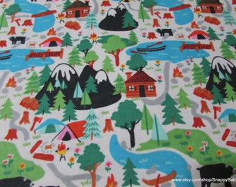 Flannel Fabric - Campsite - 1 yard - 100% Cotton Flannel