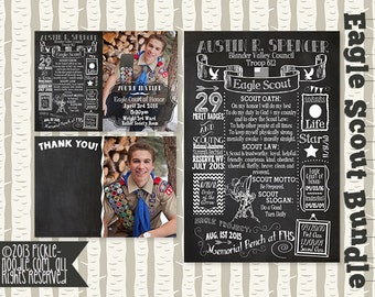 Eagle Scout - Eagle Scout Court of Honor - Eagle Scout Invitation - Eagle Scout Thank You Card - Eagle Scout Gift - Eagle Scout Chalkboard