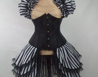 Black and White Striped Opera Shrug ONLY