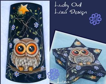 E-Pattern: Lucky Owl by Liza Design.
