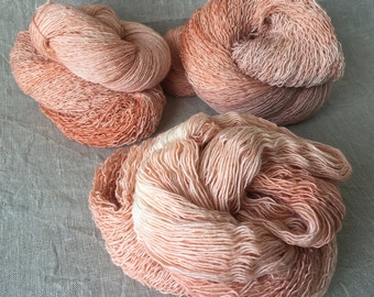 hand-dyed Merino silk yarn, made from natural raw materials, Lucille
