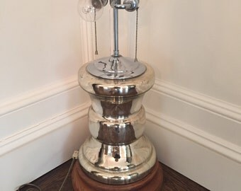 MONUMENTAL MERCURY GLASS Lamp Vintage