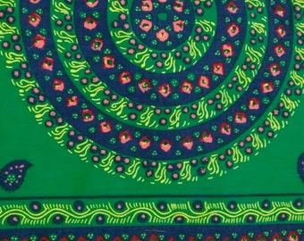 "Vintage Mandala Border Print Cotton Fabric 3 3/4"" x 44"""