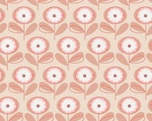 """FABRIC Remnant - Playful Petals in Melon - Littlest Collection - Art Gallery Fabrics - 11""""x42"""""""