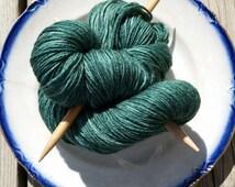 Sock Yarn Hand Dyed  Fingering Weight Merino & Silk Sock Yarn Socks Shawls Knitting Crochet Spearfish Colorwa