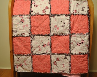 Breast Cancer Lap Rag Quilt