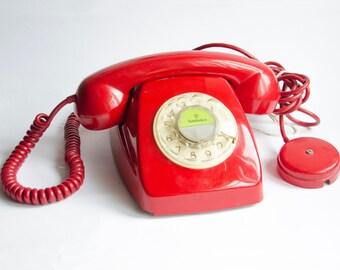 Phone Heraldo CITESA Malaga. Red color.