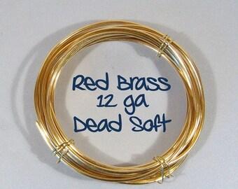 12ga 5ft DS Red Brass Wire
