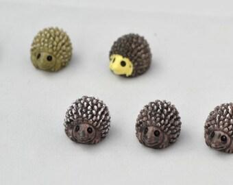 5 PC Set Brown Hedgehog  Miniature Garden Plants Terrarium Doll House Ornament Fairy Decoration AZ6194