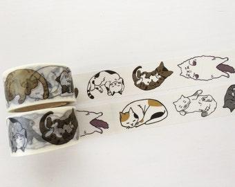 Lounging Cat Washi Tape 7m