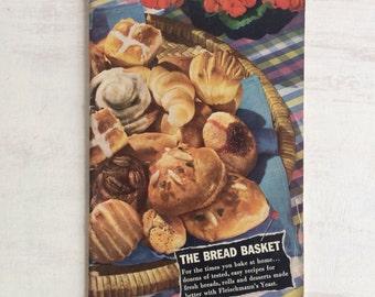 Vintage 1943 The Breadbasket Recipe Booklet