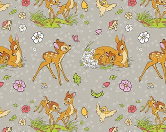 FLANNEL Disney Bambi Fabric From Camelot By the Yard