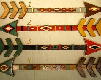 Wooden Arrow - Vintage Arrow - Rustic Arrow - American Indian Arrow - Native American Arrow - Southwest - Distressed - Arrowhead -Wall Decor