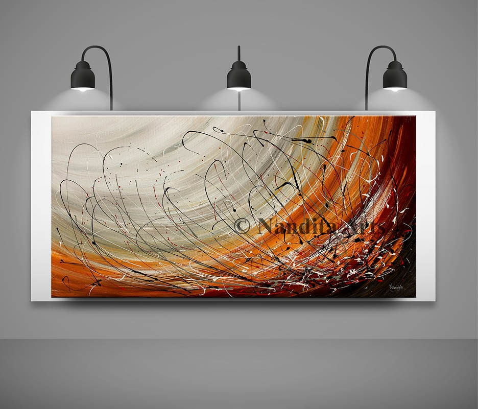 large wall art abstract painting acrylic wall decor red. Black Bedroom Furniture Sets. Home Design Ideas