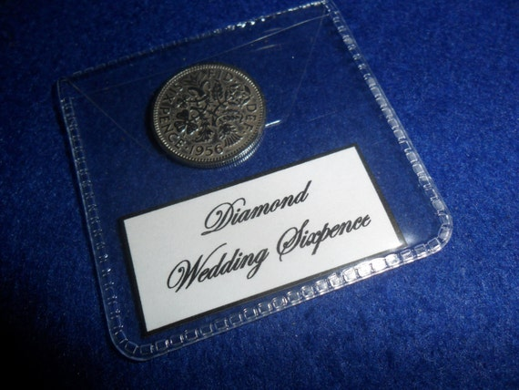 Diamond Wedding Anniversary Gift 60th Wedding by staffscoins