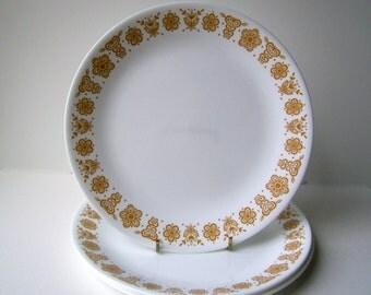 Corelle Livingware Dinner Plates in Butterfly Gold, Set of 4