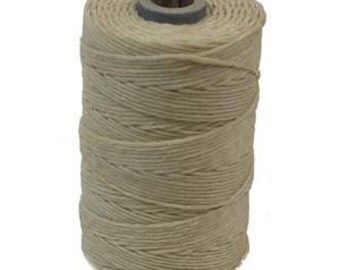 Natural Irish Waxed Linen Cord 4 Ply 50 Gram Spool Approximately 100 Yards