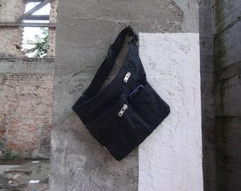 Hip Bag Waxed Canvas Travel Belt Pouch Festival Bag Fanny Pack