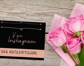 Wedding Hash Tag Sign