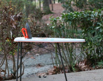 Vintage Wolverine Tin Litho Toy Ironing Board and Toy Iron  / Sunny Suzy Ironing Board /  Wolverine Toy Ironing Board