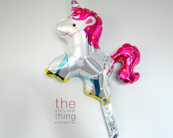 "14"" unicorn balloon party supplies decorations fairytale princess 1st birthday baby shower theme girls magical"