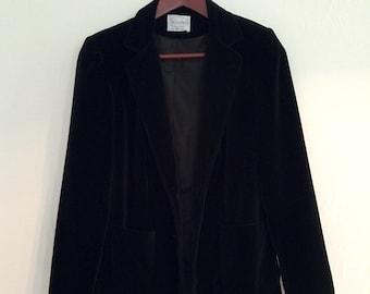 Velvet Blazer /// Black