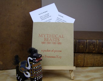 Mythical Beasts. A packet of poems. Handmade. Letterpress & original poetry.