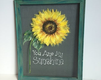 Sunflower,You are my sunshine,Window screen,outdoor art,porch decor