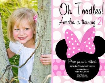 Minnie Mouse Birthday Party Invitation - Printable